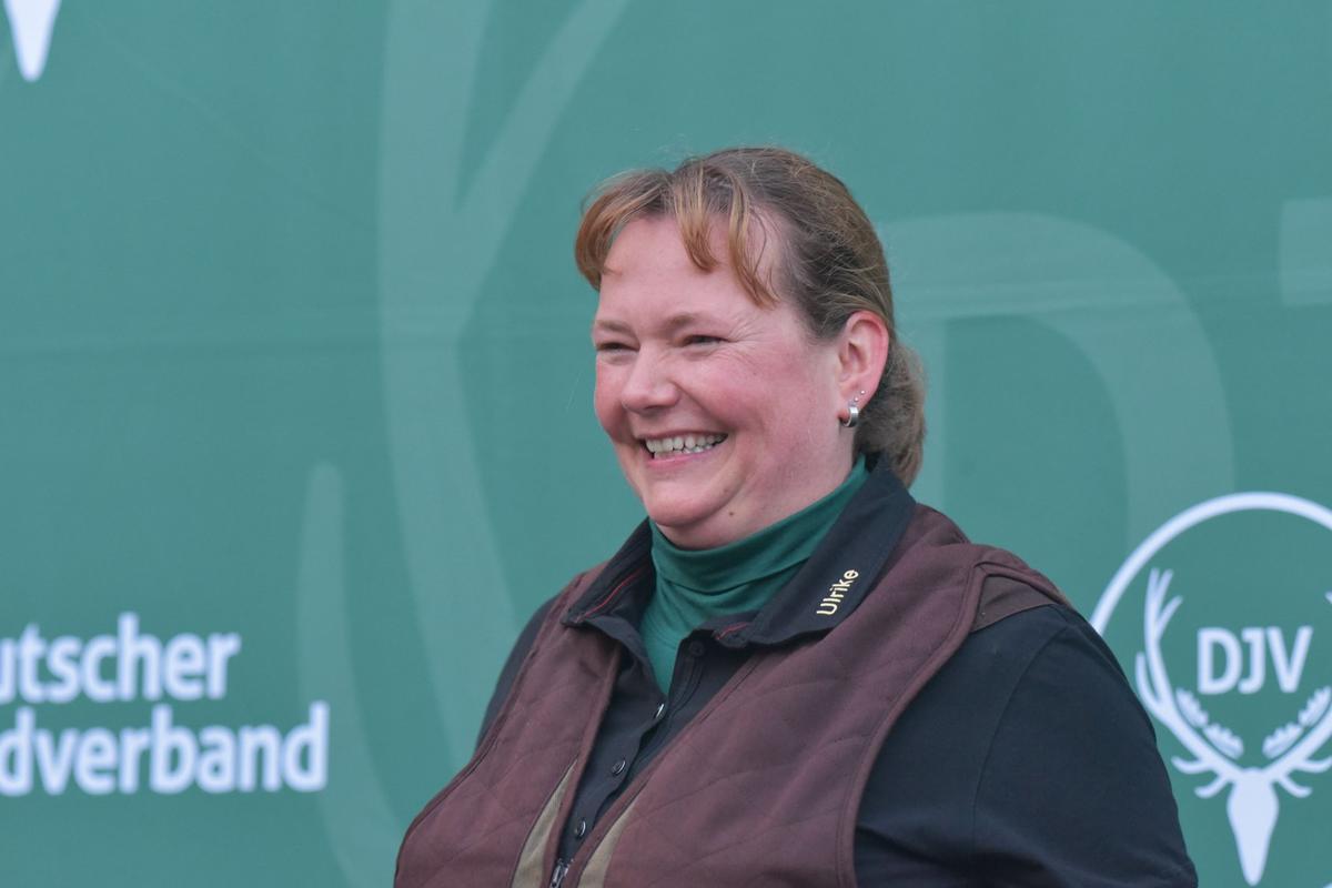In der Damenklasse Flinte gewinnt Ulrike Junge aus Niedersachsen mit 140 Punkten. (Quelle: Kapuhs/DJV)