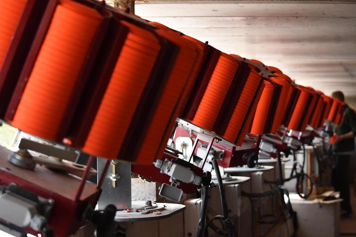 Die Wurfmaschinen sind voll beladen für die Bundesmeisterschaft. (Quelle: DJV)