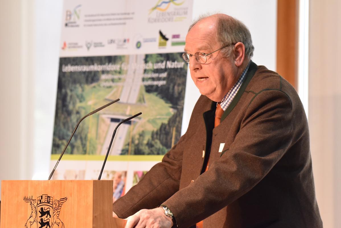 Hartwig Fischer auf der Fachtagung Lebensraumkorridore für Mensch und Natur in Berlin (Quelle: Kapuhs/DJV)